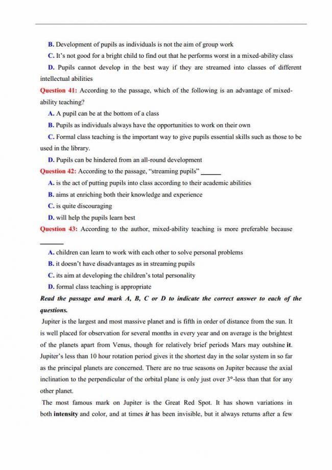 Đề thi thử môn Anh thptqg năm 2018 trường THPT chuyên Lương Văn Chánh Phú Yên trang 6