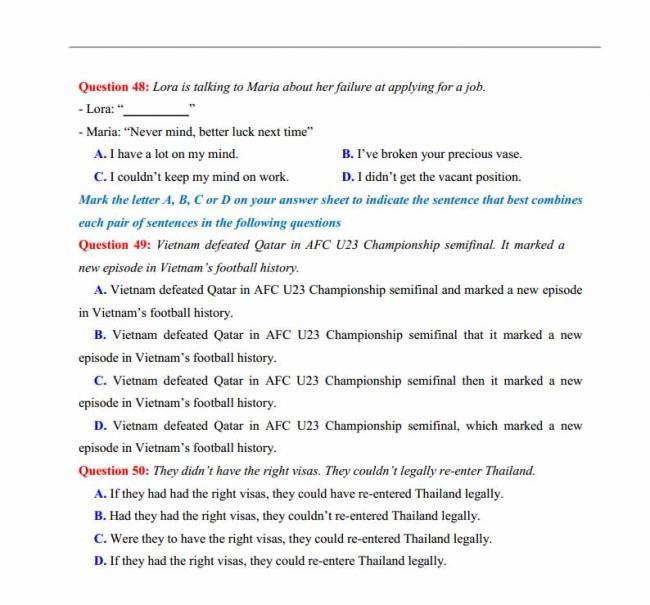 Đề thi thử môn Anh thptqg năm 2018 trường THPT chuyên Lương Văn Tụy Ninh Bình trang 8