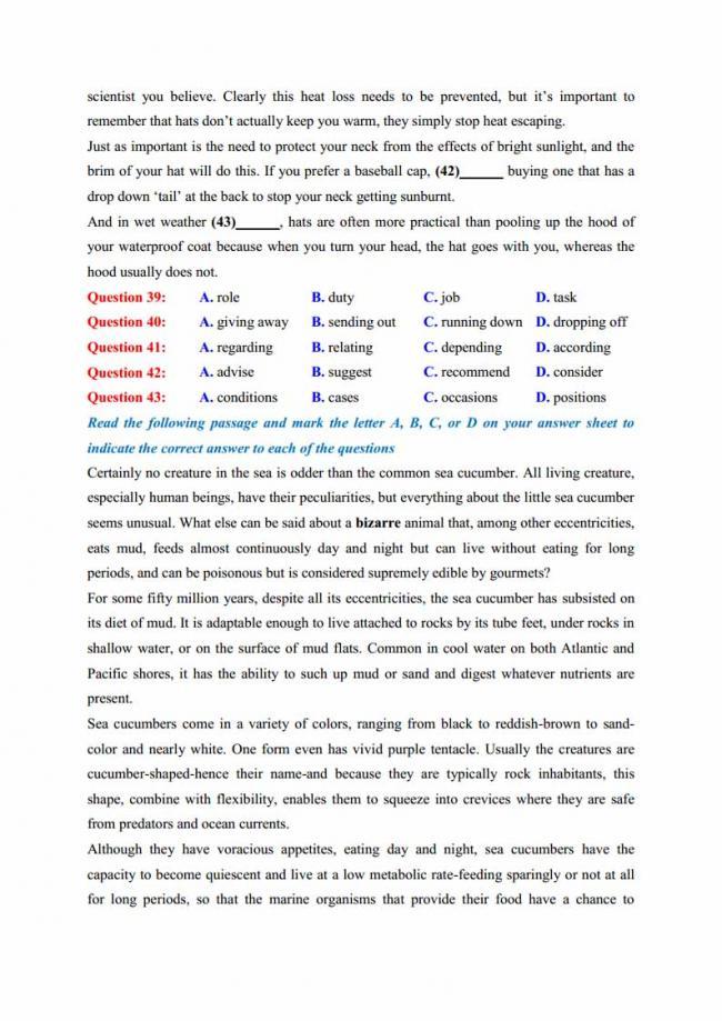 Đề thi thử môn Anh thptqg năm 2018 trường THPT chuyên Thái Nguyên trang 7