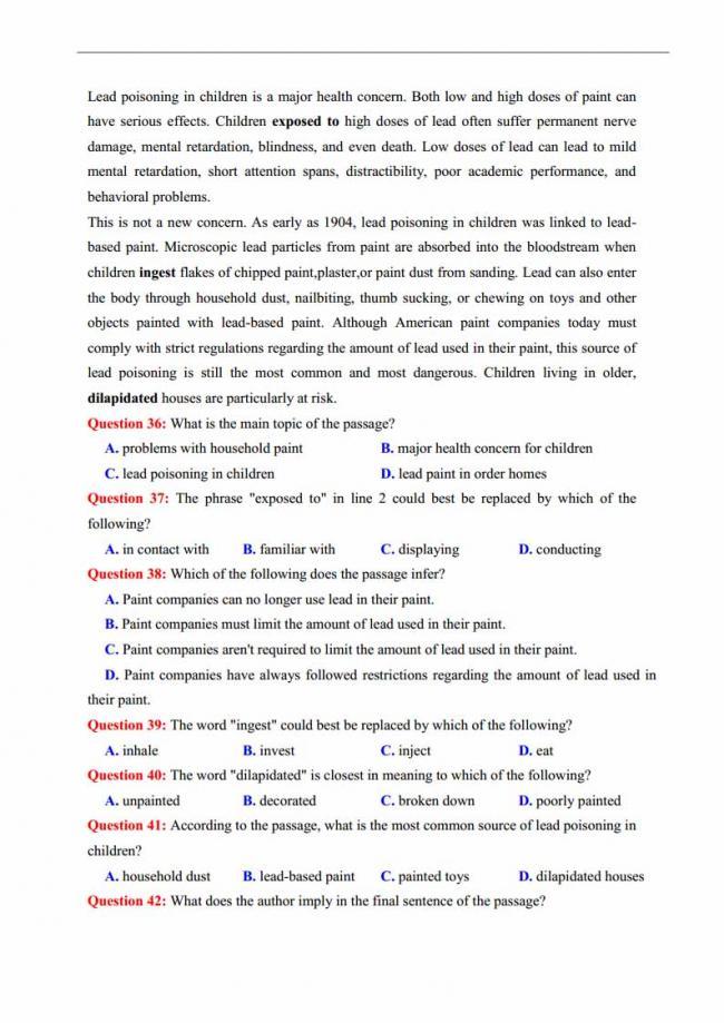 Đề thi thử môn Anh thptqg năm 2018 trường THPT Thăng Long Hà Nội trang 5