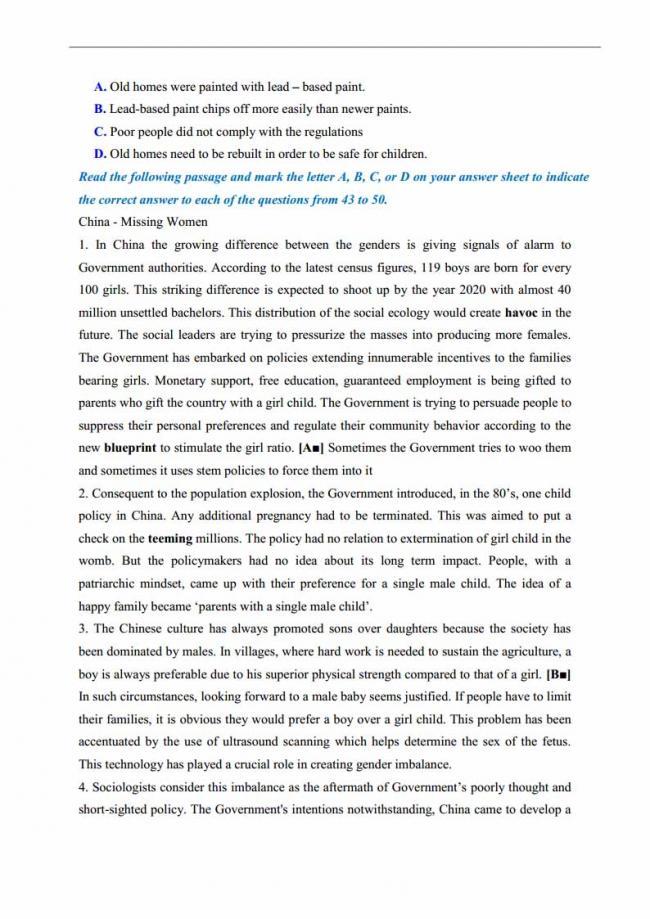 Đề thi thử môn Anh thptqg năm 2018 trường THPT Thăng Long Hà Nội trang 6