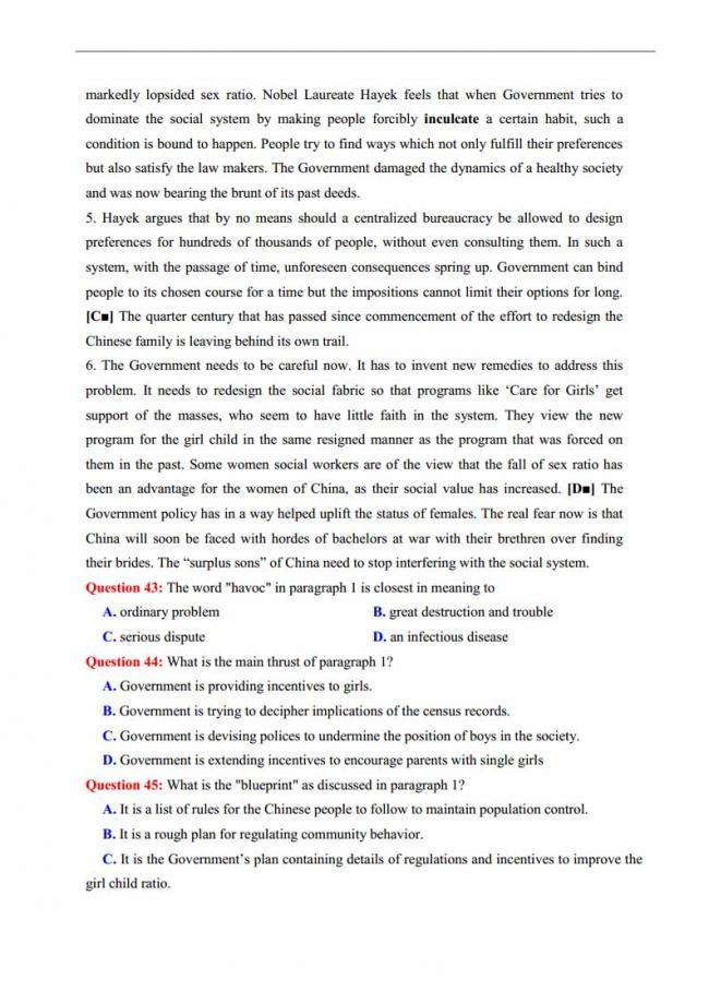 Đề thi thử môn Anh thptqg năm 2018 trường THPT Thăng Long Hà Nội trang 7