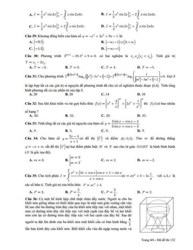 Đề thi thử môn Toán thptqg năm 2018 trường Lý Thái Tổ - Bắc Ninh lần 1 trang 4