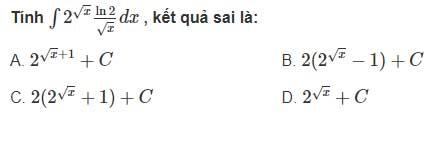 Câu hỏi bài 2 trang 128 sgk giải tích lớp 12