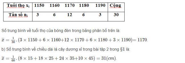 Giải toán Đại Số lớp 10 Bài 1 trang 122 sgk