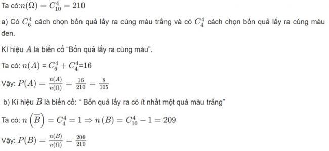 Đáp án bài 6 trang 76 SGK toán đại số và giải tích lớp 11