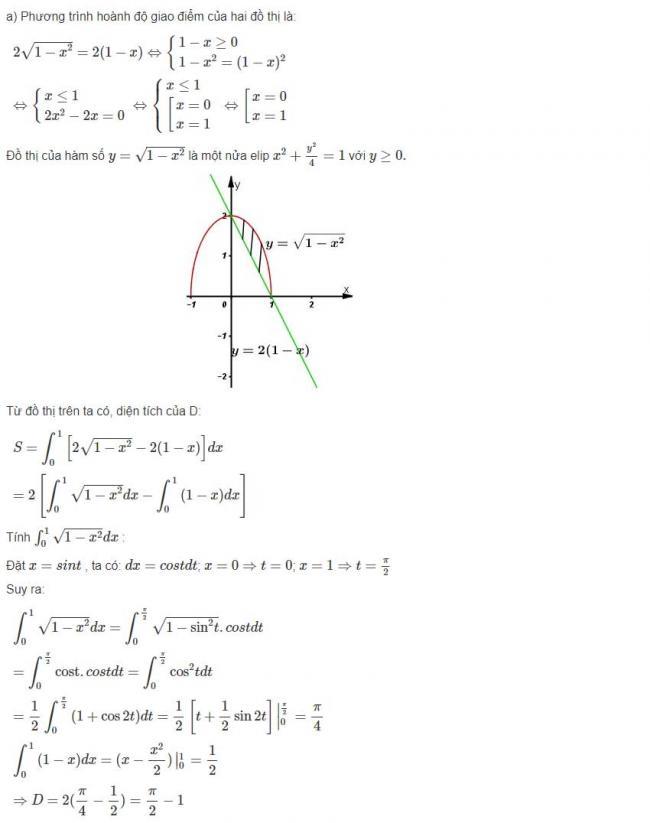 Đáp án câu a bài 7 trang 127 sgk giải tích lớp 12