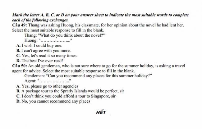 Đề thi thử môn Anh thptqg năm 2018 trường THPT Thạch Hóa Long An trang 6