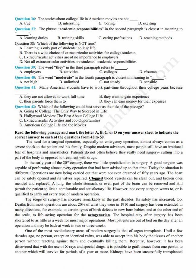 Đề thi thử môn Anh thptqg năm 2018 trường THPT Toàn Thắng Hải Phòng trang 4