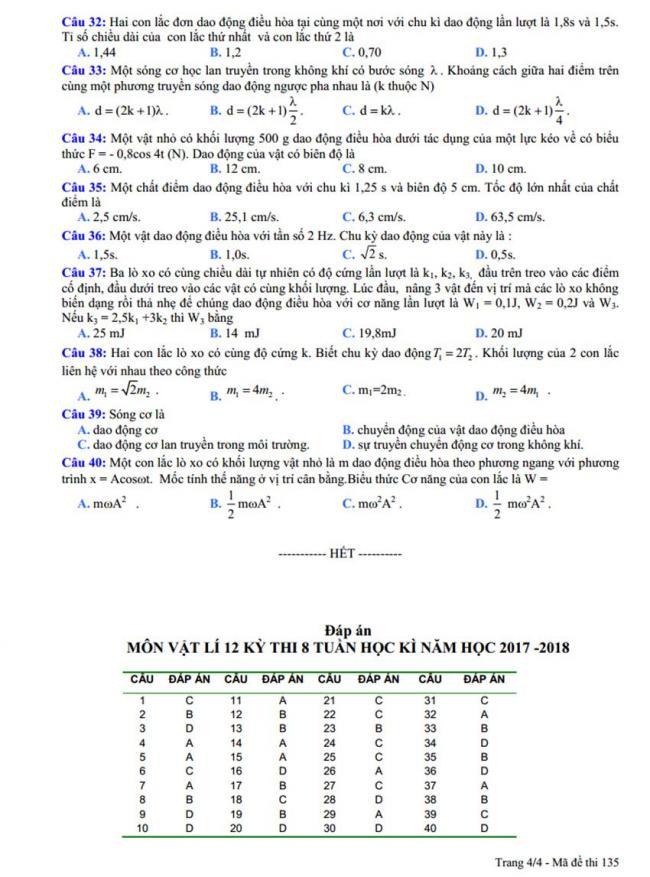 Đề thi thử môn Lý thptqg năm 2018 trường Trực Ninh – Nam Định 3