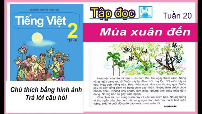 Soạn bài tập đọc Mùa xuân đến trang 17 SGK Tiếng Việt 2 tập 2