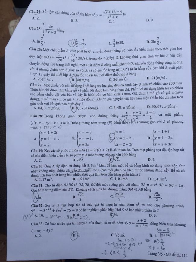 trang 3 đề toán thi thptqg 2018 mã 114