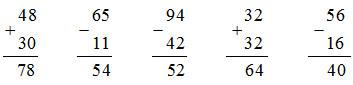 đáp án bài tập 3 trang 11 sách giáo khoa toán 2