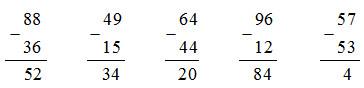 đáp án bài tập 1 trang 10 sách giáo khoa toán 2.