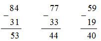 bài tập 3 trang 10 sách giáo khoa toán 2.
