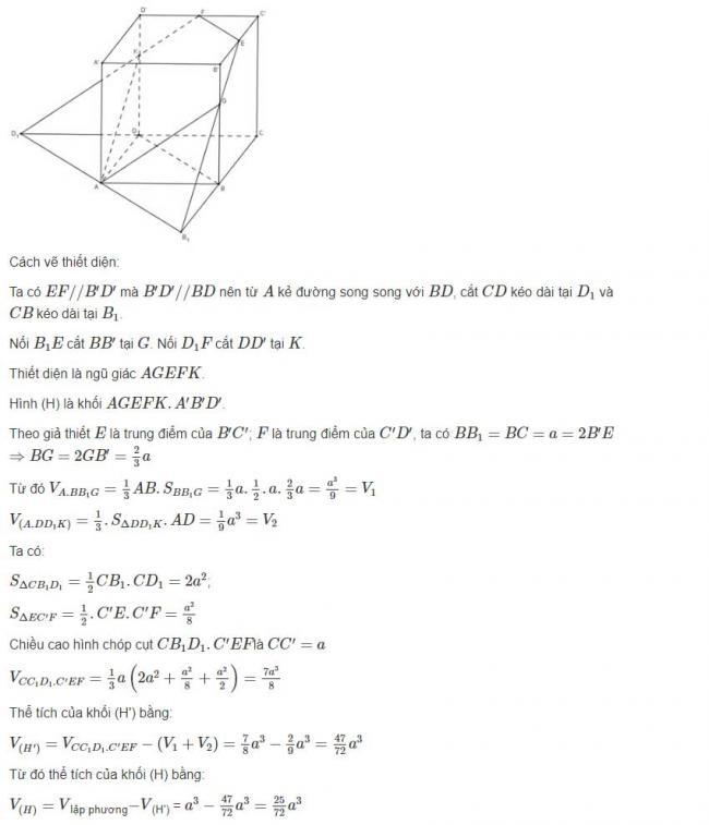 Đáp án bài 2 trang 99 sgk hình học lớp 12