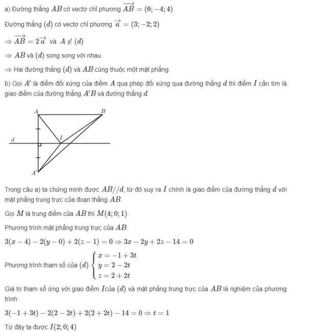 Đáp án bài 4 trang 99 sgk hình học lớp 12