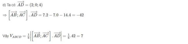 Đáp án bài 8 trang 100 sgk hình học lớp 12 phần 2