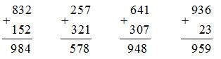 Giải bài Phép cộng (không nhớ) trong phạm vi 1000 SGK Toán 2 ảnh 3