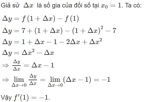 Đáp án bài 1 trang 162 SGK toán đại số và giải tích lớp 11 câu a