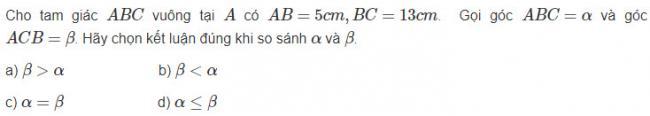 Hình học lớp 10 đáp án bài 13 trang 64 sgk