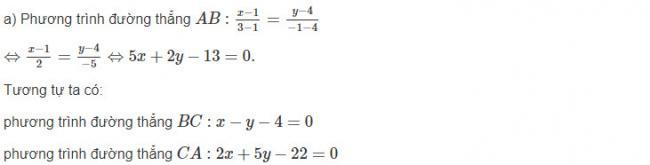 Đáp án bài 3 trang 80 sgk hình học lớp 10
