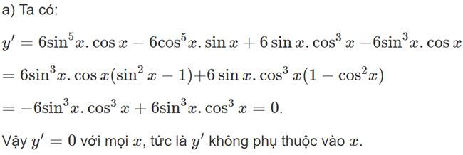 Đáp án bài 6 trang 169 SGK toán đại số và giải tích lớp 11 câu a