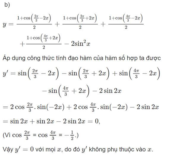 Đáp án bài 6 trang 169 SGK toán đại số và giải tích lớp 11 câu b