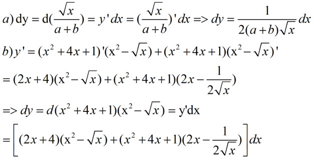 Đáp án bài 1 trang 171 SGK toán đại số và giải tích lớp 11
