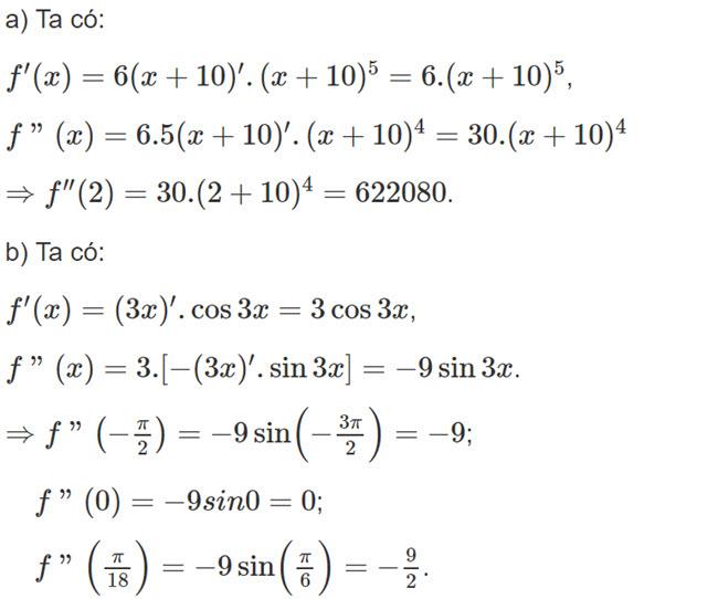 Đáp án bài 1 trang 174 SGK toán đại số và giải tích lớp 11