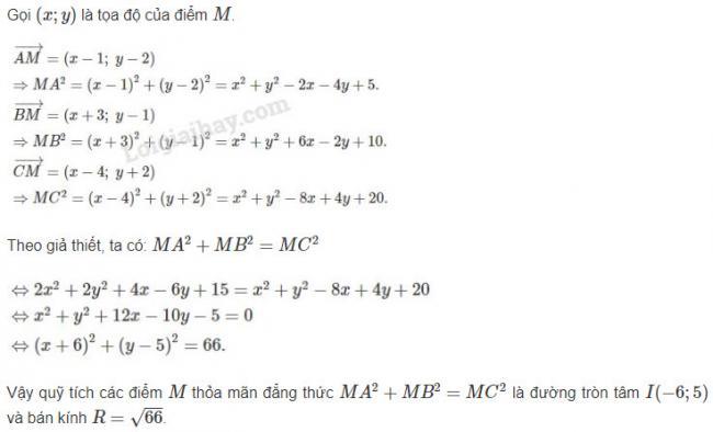 Cách giải bài 2 trang 93 sgk hình học lớp 10