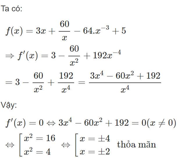 Đáp án bài 5 trang 176 SGK toán đại số và giải tích lớp 11