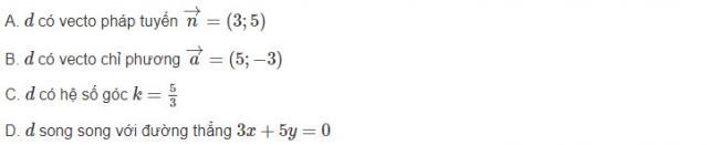 Đáp án bài 5 trang 94 sgk hình học lớp 10