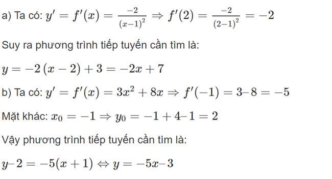 Đáp án bài 7 trang 176 SGK toán đại số và giải tích lớp 11 câu a b