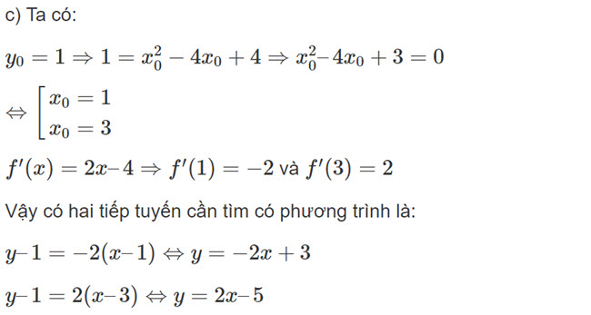 Đáp án bài 7 trang 176 SGK toán đại số và giải tích lớp 11 câu c