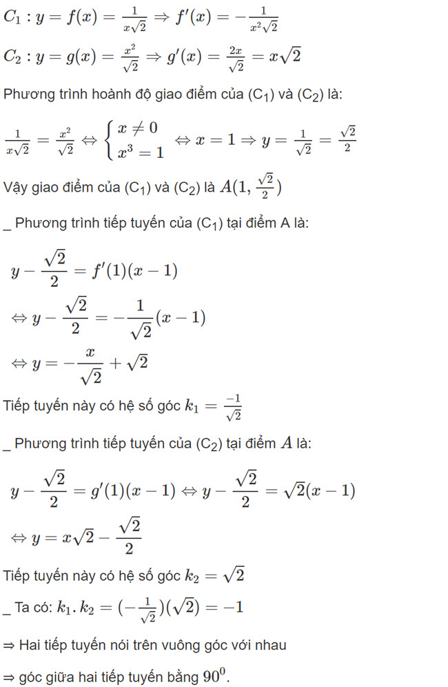 Đáp án bài 9 trang 177 SGK toán đại số và giải tích lớp 11
