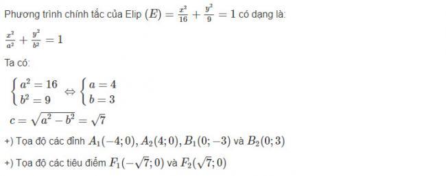 Giải toán hình học lớp 10 bài 9 trang 93 sgk