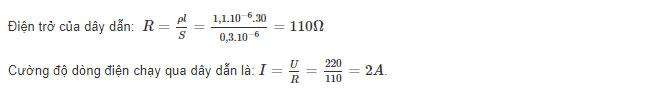 Đáp án bài 1 trang 32 sgk vật lý lớp 9