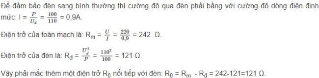 Đáp án bài 10 trang 66 sgk lý lớp 12