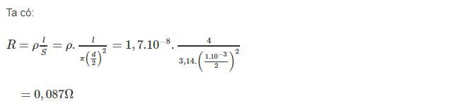 Đáp án bài C4 trang 27 sgk vật lý lớp 9
