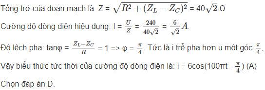 Đáp án bài 11 trang 80 sgk lý lớp 12