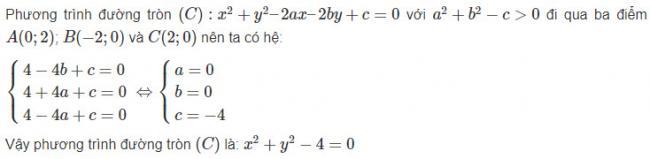 Giải toán hình học lớp 10 bài 19 trang 96 sgk