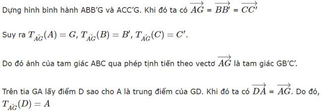 Đáp án bài 2 trang 7 SGK toán hình học lớp 11