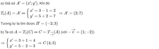 Đáp án bài 3 trang 7 SGK toán hình học lớp 11 câu a b