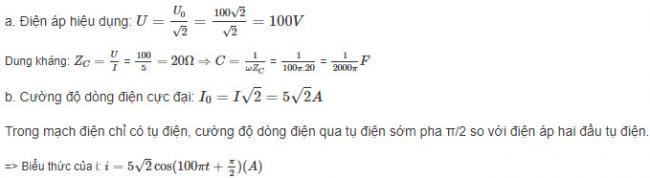 Đáp án bài 3 trang 74 sgk lý lớp 12
