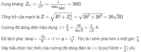 Đáp án bài 4 trang 79 sgk lý lớp 12