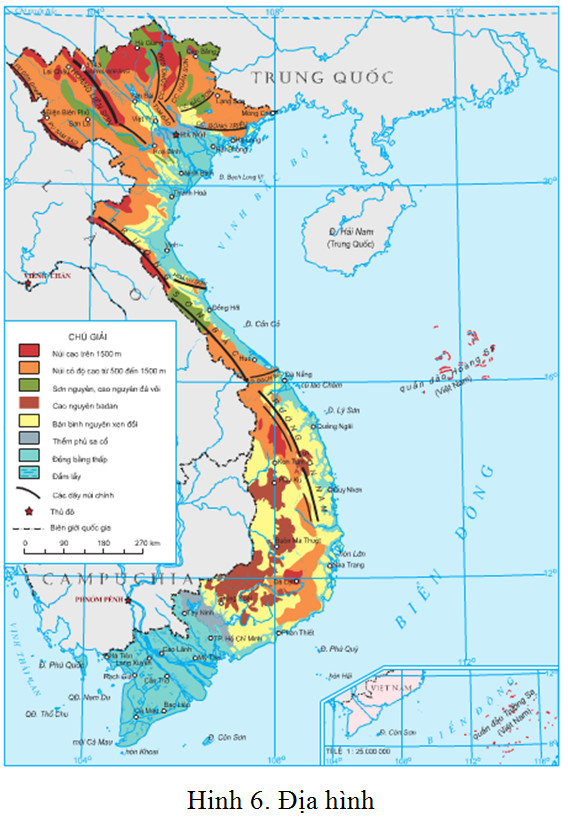 Bản đồ địa hình Việt Nam