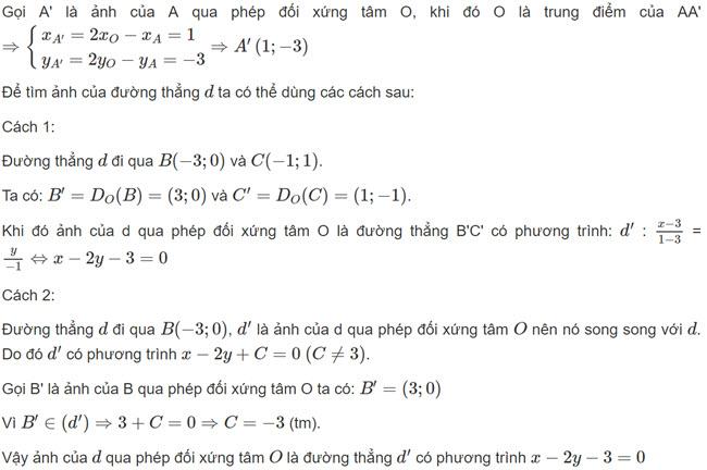 Đáp án bài 1 trang 15 SGK toán hình học lớp 11