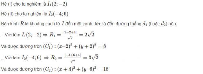 Hình học lớp 10 đáp án bài 8 trang 99 sgk