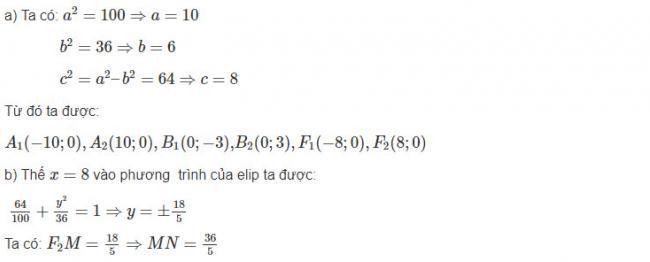 Giải toán hình học lớp 10 bài 9 trang 99 sgk